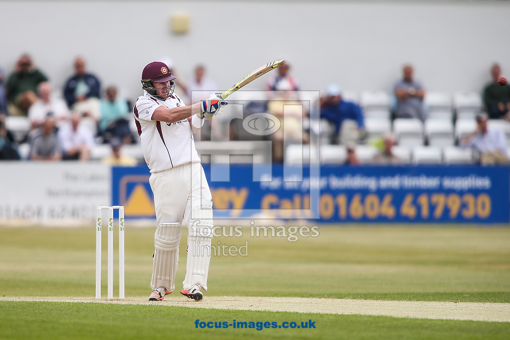 Alex Wakely of Northamptonshire batting during the LV County Championship Div Two match at the County Ground, Northampton<br /> Picture by Andy Kearns/Focus Images Ltd 0781 864 4264<br /> 08/06/2015