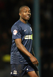 Man of the match Jamar Loza Of Southend United - Photo mandatory by-line: Robin White/JMP - Tel: Mobile: 07966 386802 24/03/2014 - SPORT - FOOTBALL - Roots Hall - Southend - Southend United vs Oxford United - Sky Bet League 2