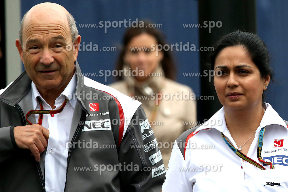 21.06.2014, Red Bull Ring, Spielberg, AUT, FIA, Formel 1, Grosser Preis von &Ouml;sterreich, Qualifying, im Bild Peter Sauber (SUI) Sauber Team Owner and Monisha Kaltenborn (AUT) Sauber Team Prinicpal. // during the qualifying of the Austrian Formula One Grand Prix at the Red Bull Ring in Spielberg, Austria on 2014/06/21. EXPA Pictures &copy; 2014, PhotoCredit: EXPA/ Sutton Images/ Boland<br /> <br /> *****ATTENTION - for AUT, SLO, CRO, SRB, BIH, MAZ only*****