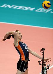 01-10-2014 ITA: World Championship Volleyball Servie - Nederland, Verona<br /> Nederland verliest met 3-0 van Servie en is kansloos voor plaatsing final 6 / Lonneke Sloetjes