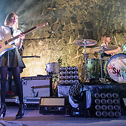WASHINGTON, DC - February 24, 2015 - Carrie Brownstein and Janet Weiss of Sleater-Kinney perform during the first of two sold-out shows at the 9:30 Club in Washington, D.C. The band, on hiatus since 2006, reunited late in 2014 and recently released No Cities to Love, their first album in almost 10 years. (Photo by Kyle Gustafson / For The Washington Post)