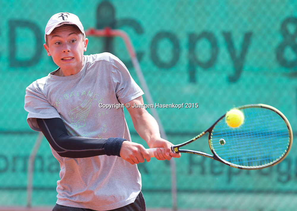 Dominik Pauli (GER), Tennis Europe-M&uuml;nchen Junior Open BS16<br /> <br /> Tennis - Audi GW plus Zentrum M&uuml;nchen Junior Open 2015 - ITF Junior Tour -  SC Eching - Eching - Bayern - Germany  - 10 August 2015. <br /> &copy; Juergen Hasenkopf