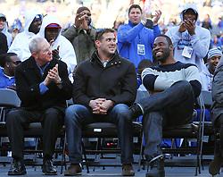Feb 7, 2012; East Rutherford, NJ, USA; during the New York Giants Super Bowl XLVI Rally at MetLife Stadium.