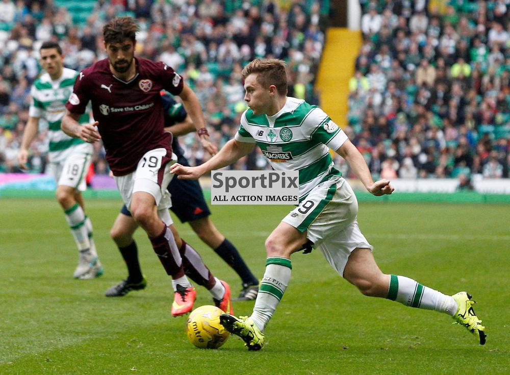 Celtic v Hearts....Juanma Delgado and James Forrest battle for the ball....(c) STEPHEN LAWSON   SportPix.org.uk