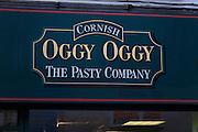 Oggy Oggy, The Cornish Pasty Company, shop sign, Ipswich, England