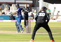 Gloucestershire's Chris Dent watches the ball as he leaves - Mandatory byline: Robbie Stephenson/JMP - 07966 386802 - 19/09/2015 - Cricket - Lord's Cricket Ground - London, England - Gloucestershire CCC v Surrey CCC - Royal London One-Day Cup Final