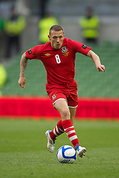 DUBLIN, REPUBLIC OF IRELAND - Friday, May 27, 2011: Wales' Craig Bellamy in action against Northern Ireland during the Carling Nations Cup match at the Aviva Stadium (Lansdowne Road). (Photo by David Rawcliffe/Propaganda)