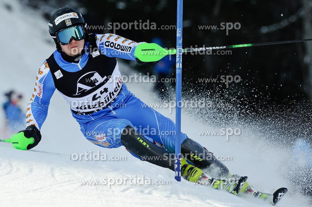 23.01.2011, Hahnenkamm, Kitzbuehel, AUT, FIS World Cup Ski Alpin, Men, Slalom, im Bild // Jens Byggmark (SWE) // during the men slalom race at the FIS Alpine skiing World cup in Kitzbuehel, EXPA Pictures © 2011, PhotoCredit: EXPA/ S. Zangrando