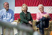 New York Senator and potential Presidential Candidate for 2016 Hillary Rodham clinton is guest of honor at the annual barbeque hosted by Iowa Senator Tom Harkin.