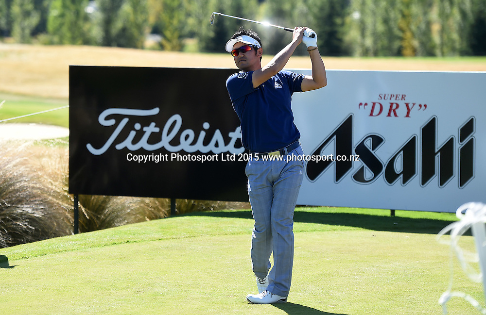 Japan's Toshinori Muto in action during round three of the 2015 BMW New Zealand Golf Open, Millbrook Resort, Arrowtown, New Zealand. Saturday 14 March 2015. Copyright Photo: Andrew Cornaga / www.photosport.co.nz