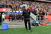 Leeds United Manager Marcelo Bielsa during the EFL Sky Bet Championship match between Bristol City and Leeds United at Ashton Gate, Bristol, England on 9 March 2019.
