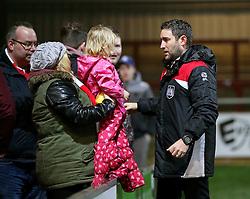 Bristol City head coach Lee Johnson talks with fans at full time - Mandatory by-line: Matt McNulty/JMP - 17/01/2017 - FOOTBALL - Highbury Stadium - Fleetwood,  - Fleetwood Town v Bristol City - Emirates FA Cup Third Round Replay