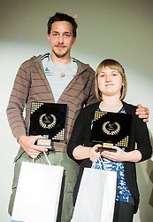 Gregor Selak and Tanja Glusic during Slovenian Disabled Sports personality of the year 2017 event, on December 6, 2017 in Austria Trend Hotel, Ljubljana, Slovenia. Photo by Vid Ponikvar / Sportida