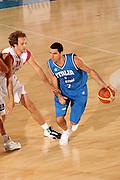 DESCRIZIONE : Bormio Torneo Internazionale Gianatti Italia Croazia <br /> GIOCATORE : Matteo Soragna<br /> SQUADRA : Nazionale Italia Uomini <br /> EVENTO : Bormio Torneo Internazionale Gianatti <br /> GARA : Italia Croazia <br /> DATA : 01/08/2007 <br /> CATEGORIA : Palleggio<br /> SPORT : Pallacanestro <br /> AUTORE : Agenzia Ciamillo-Castoria/G.Cottini