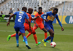 Cape Town City striker Sibusiso Masina in action against Polokwane City in an MTN8 quarter-final match at the Cape Town Stadium on August 12, 2017 in Cape Town, South Africa.