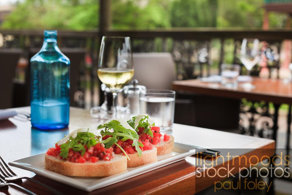 Bruschetta, Alfresco Dining, Morpeth, NSW, Australia.