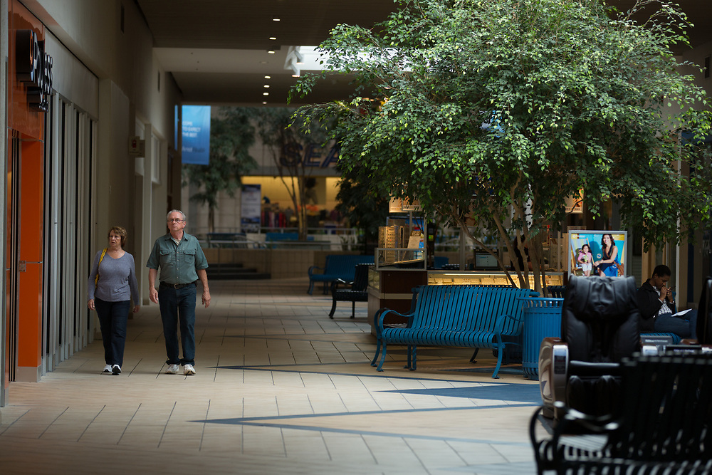 Customers at Arnot Mall in Elmira, New York on Thursday, May 25, 2017. CREDIT: Mike Bradley for the Wall Street Journal<br /> RIPPLES