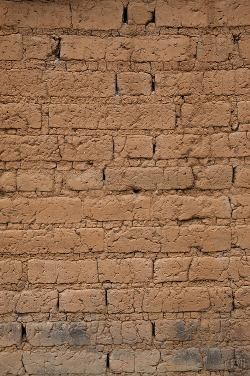 """Wall 2"" - This old brick wall was photographed in the small mountain town of San Sebastian, Mexico."