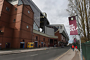 The Doug Ellis stand exterior ground shot during the EFL Sky Bet Championship match between Aston Villa and Derby County at Villa Park, Birmingham, England on 2 March 2019.