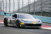 The #19 car driven by Jason Harper during a practice session at the Ferrari Challenge North America in Watkins Glen, New York, USA, on Saturday, September 20, 2014. Photographer: Mike Bradley/Bloomberg