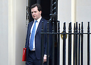 © Licensed to London News Pictures. 05/02/2013. Westminster, UK Chancellor.George Osborne. Cabinet Ministers arrive for the weekly Cabinet meeting on 5th February 2013. Photo credit : Stephen Simpson/LNP