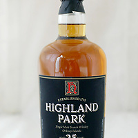 New bottle and label of 25 year old Highland Park Whisky<br /><br />Picture by Graeme Hart.<br />Copyright Perthshire Picture Agency<br />Tel: 01738 623350  Mobile: 07990 594431