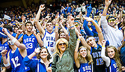 Cameron Crazies ready for tip off of game versus Maryland. Duke beats Maryland 71-64 at Cameron Indoor Stadium.