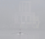 Henley, Great Britain,  General Views,  Henley Reach, and Temple Island  Single scull trainging in the early morning ground mist, Henley on Thames Oxfordshire, Great Britain. Thursday,  21/01/2010. [Mandatory Credit. Peter Spurrier/Intersport Images]