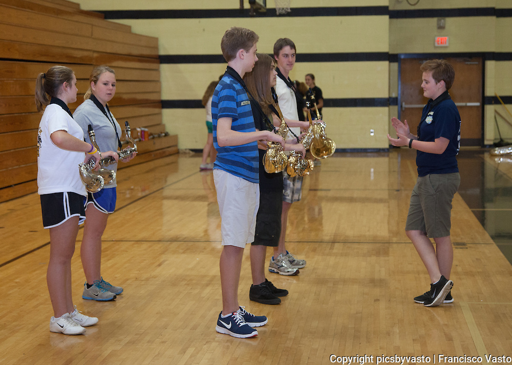 Pride of Providence Pre-Season Marching Band activities. June 2013.