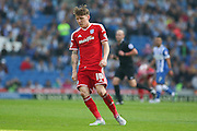 Goalscorer Cardiff City striker Joe Mason during the Sky Bet Championship match between Brighton and Hove Albion and Cardiff City at the American Express Community Stadium, Brighton and Hove, England on 3 October 2015. Photo by Phil Duncan.