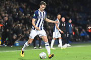 West Bromwich Albion defender Jonny Evans (6) 1-2 during the EFL Cup match between West Bromwich Albion and Manchester City at The Hawthorns, West Bromwich, England on 20 September 2017. Photo by Alan Franklin.
