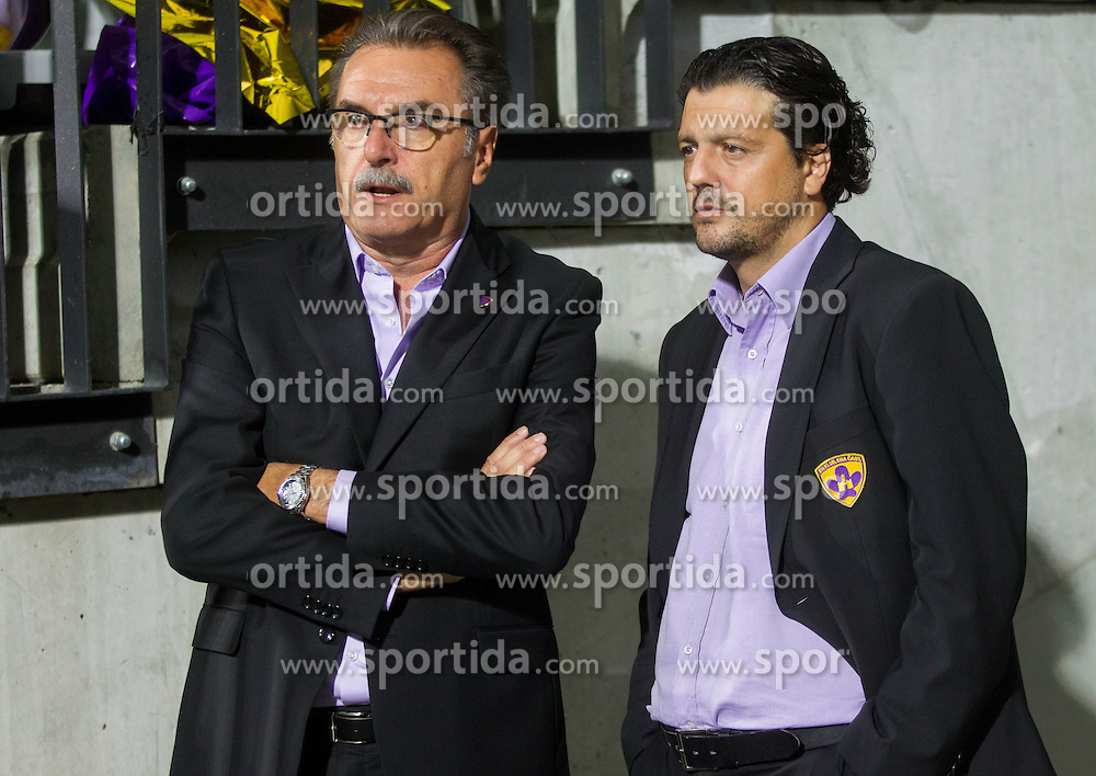 Ante Cacic, head coach of Maribor and Zlatko Zahovic, sports director of Maribor prior to the Second Leg football match between NK Maribor (SLO) and FC Viktoria Plzen (CZE) of UEFA Champions League 2013/14 Play-Offs on August 28, 2013 in Stadium Ljudski vrt, Maribor, Slovenia. FC Viktoria Plzen defeated NK Maribor 1-0 and Qualify for Champions League 2013/14. (Photo by Vid Ponikvar / Sportida.com)