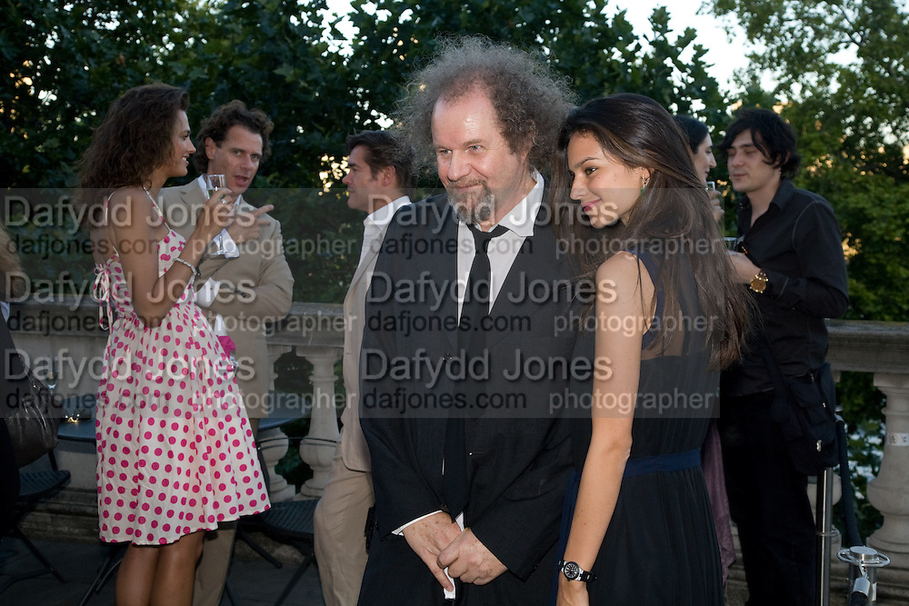 MIKE FIGGIS; STAR OF THE FILM KATY SAUNDERS, agns b. presents Piazza di Spagna, an art installation by British director Mike Figgis and  Italian photographer Massimo Vitali. Somerset House. London. 30 July 2008 *** Local Caption *** -DO NOT ARCHIVE-© Copyright Photograph by Dafydd Jones. 248 Clapham Rd. London SW9 0PZ. Tel 0207 820 0771. www.dafjones.com.