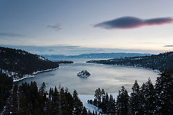 """Emerald Bay Sunrise 10"" - This sunrise was photographed from the world famous Emerald Bay in Lake Tahoe, CA."
