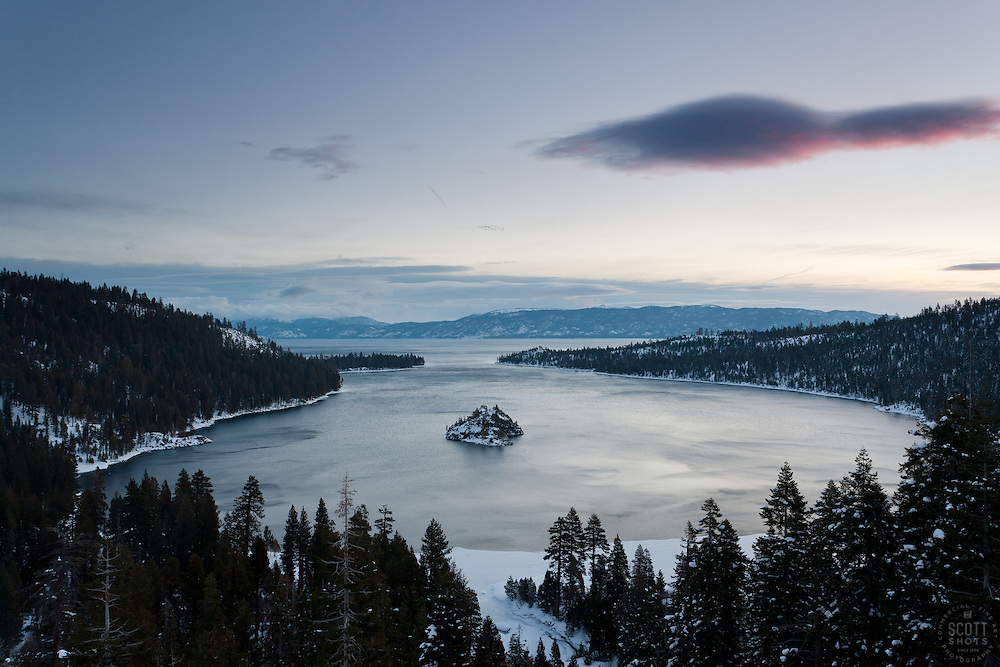 """""""Emerald Bay Sunrise 10"""" - This sunrise was photographed from the world famous Emerald Bay in Lake Tahoe, CA."""