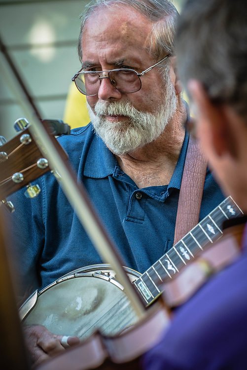 Bluegrass music festival and musicians.