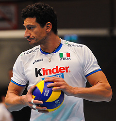 18.09.2011, Stadthalle, Wien, AUT, CEV, Europaeische Volleyball Meisterschaft 2011, Finale, Italien vs Serbien, im Bild Luigi Mastrangelo, (ITA, #1, Middle-Blocker) // during the european Volleyball Championship Final Italy vs Serbia, at Stadthalle, Vienna, 2011-09-18, EXPA Pictures © 2011, PhotoCredit: EXPA/ M. Gruber