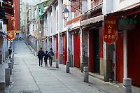Chine, Macao, Rua Da Felicidade // China, Macau, Rua Da Felicidade