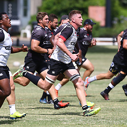 DURBAN, SOUTH AFRICA - JANUARY 19: Jacques Vermeulen during the Cell C Sharks training session at Growthpoint Kings Park on January 19, 2018 in Durban, South Africa. (Photo by Steve Haag/Gallo Images)