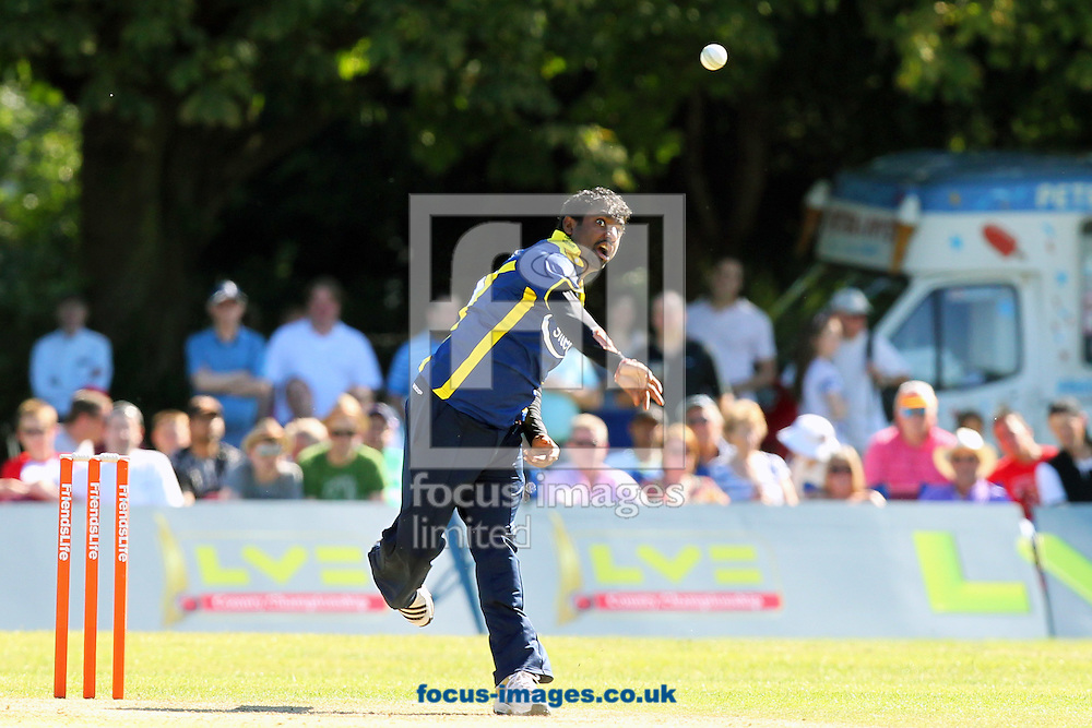 Picture by James Ward/Focus Images Ltd. 07908 205049..26/6/11.Muttiah Muralitharan of Gloucestershire during the Friends Life T20 match at Uxbridge Cricket Club.