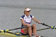 Eton Dorney, Windsor, Great Britain,..2012 London Olympic Regatta, Dorney Lake. Eton Rowing Centre, Berkshire.  Dorney Lake.   ..Description  -  Women's Single Sculls Sculls  CZE W1X Mirka KNAPKOVA. ...11:46:44   Thursday  02/08/2012   [Mandatory Credit: Peter Spurrier/Intersport Images]  .