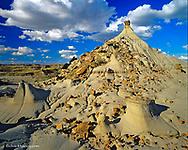 Badlands formations Dinosaur Provincial Park Patricia Alberta Canada