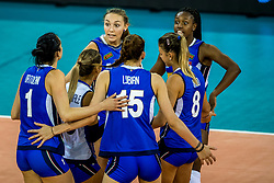11-08-2018 NED: Rabobank Super Series Italy - Russia, Eindhoven<br /> Russia defeats Italiy with 3-0 and goes to the final on sunday / Sylvia Nwakalor #7 of Italy, Elena Pietrini #14 of Italy