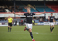 20th January 2018, Dens Park, Dundee, Scotland; Scottish Cup fourth round, Dundee versus Inverness Caledonian Thistle; Dundee's A-Jay Leitch-Smith celebrates after scoring