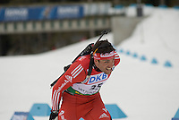 Simon Hallenbarter (SUI) competes in the World Cup Biathlon men's Sprint Competition on March 13, 2009