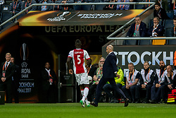 24-05-2017 SWE: Final Europa League AFC Ajax - Manchester United, Stockholm<br /> Finale Europa League tussen Ajax en Manchester United in het Friends Arena te Stockholm / Coach Peter Bosch of Ajax, Davinson S&aacute;nchez #5 of Ajax