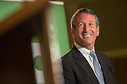 Former South Carolina Gov. Mark Sanford the Republican candidate for the open Congressional seat smiles after avoiding a question about his extra marital affair during a debate against his democratic opponent Elizabeth Colbert Busch at the Citadel on April 29, 2013 in Charleston, South Carolina.