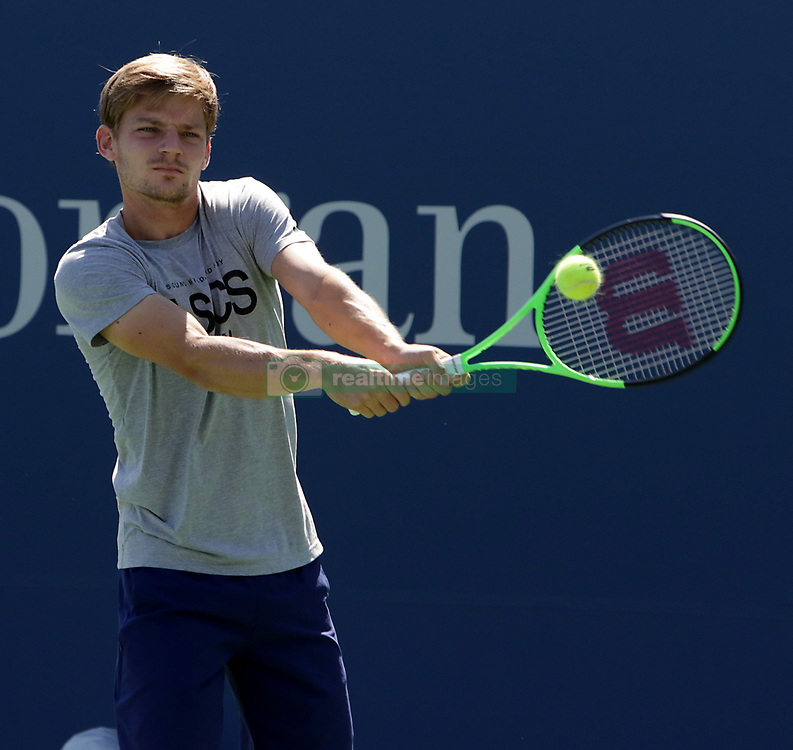 August 23, 2017 - New York, United States - Belgian player David Goffin pictured during her practice session at the US OPEN 2017 (Credit Image: © Panoramic via ZUMA Press)