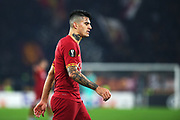 Diego Perotti of Roma reacts during the UEFA Europa League, Group J football match between AS Roma and Wolfsberg AC on December 12, 2019 at Stadio Olimpico in Rome, Italy - Photo Federico Proietti / ProSportsImages / DPPI
