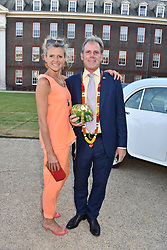 James & Amelia Lindsay at the Concours d'éléphant in aid of Elephant Family held at the Royal Hospital Chelsea, London, England. 28 June 2018.